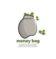 template logo for money bag vector image