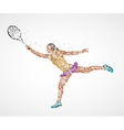 tennis abstract player vector image