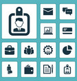 trade icons set collection of group pie bar vector image vector image