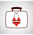 travel concept red bikini design vector image vector image