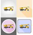 truck flat icons 09 vector image vector image