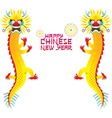 Twin Chinese Dragon and Chinese New Year vector image