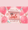 valentines day big online sale abstract pink vector image vector image