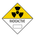 warning signs radiation hazard vector image