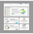 Website design template menu elements with icons vector image