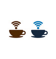 wifi coffee icons design coffee cups isolated vector image vector image
