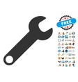 Wrench Icon With 2017 Year Bonus Pictograms vector image vector image