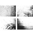 grunge monochrome rough texture set vector image