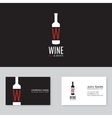 Wine logo template vector image