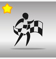 athletics with flag black icon button logo symbol vector image