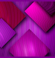 3d purple decorative background with glossy vector image vector image