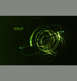 abstract futuristic hud 3d object vector image vector image