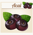 acai berries cartoon icon vector image vector image