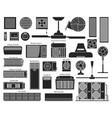 air ventilator black set icon vector image vector image