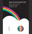 an acoustic guitar and rainbow poster vector image vector image