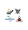 arrow marketing distribution set vector image