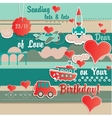 Birthday Card Cute Scrapbook Design vector image