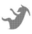 black dot alien embryo icon vector image