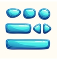 Blue buttons set vector image