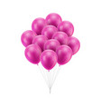 bunch pink balloons tied vector image vector image