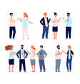business characters talking people groups vector image