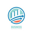 business finance logo template - concept vector image vector image