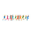 cartoon jogging characters people vector image vector image