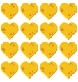 cheese heart seamless pattern vector image