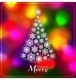 Christmas tree made from paper snowflakes on vector image vector image
