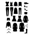 clothes silhouettes vector image