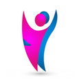 couple dancing people figures icon vector image
