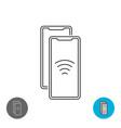 data transfer between two smartphones via nfc vector image