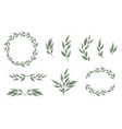 designer elements set collection of greeng vector image vector image
