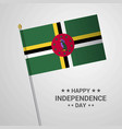 dominica independence day typographic design with vector image