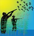 Duck hunters vector image vector image