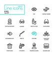 eyes - line design icons set vector image vector image