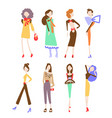 fashion women collection vector image vector image
