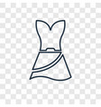 female sexy dress concept linear icon isolated on vector image