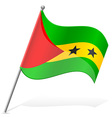 flag of Sao Tome Principe vector image