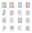 form and document icon vector image vector image