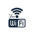 free wifi icon design isolated vector image