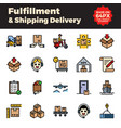 fulfillment and shipping delivery filled outline vector image vector image