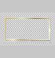 gold frame realistic golden border on transparent vector image