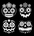 halloween and dia de los muertos skulls vector image vector image