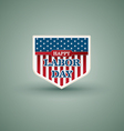 Happy labor day American shield style vector image