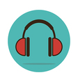 Headphone icon Musical sign vector image vector image