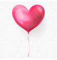 heart balloon isolated glossy icon for valentines vector image