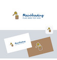 honey logotype with business card template vector image