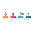 horizontal timeline infographics 4 steps for vector image