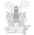 lighthouse from story magic coloring vector image